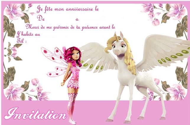Bien connu Invitations Mia et moi pour un anniversaire - Chez TitVal.fr IL64